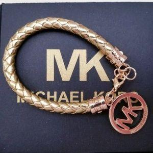 Michael Kors Fulton Saffiano Leather Braided